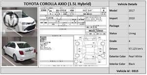 Used Toyota Corolla Axio X 1.5 2017