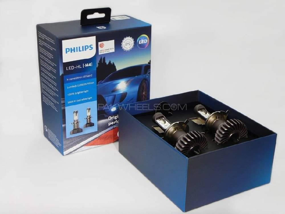 Philips Xtreme ultinon+250% H4,HB3/4,H11 Image-1