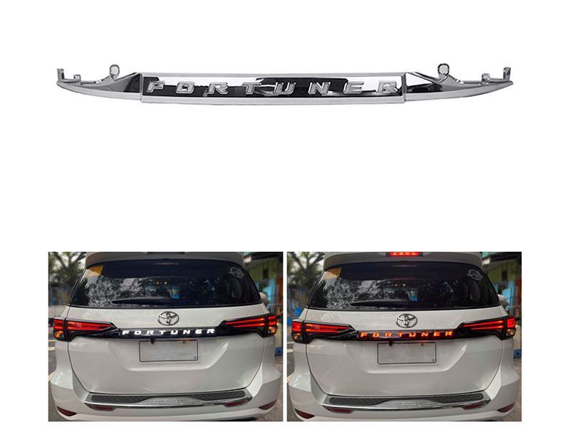 Toyota Fortuner 2016-2020 LED Trunk Garnish - Chrome in Karachi