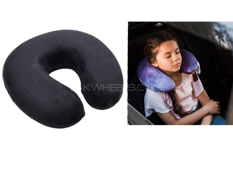 Travelling Soft Neck Cushion Black Image-1