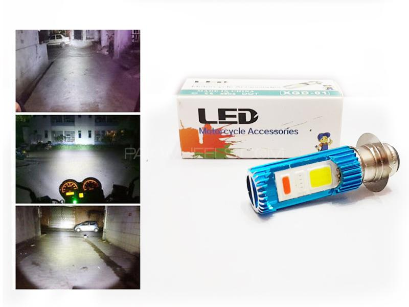 U4 Led Bulb For Bikes Double Point With Flasher Image-1