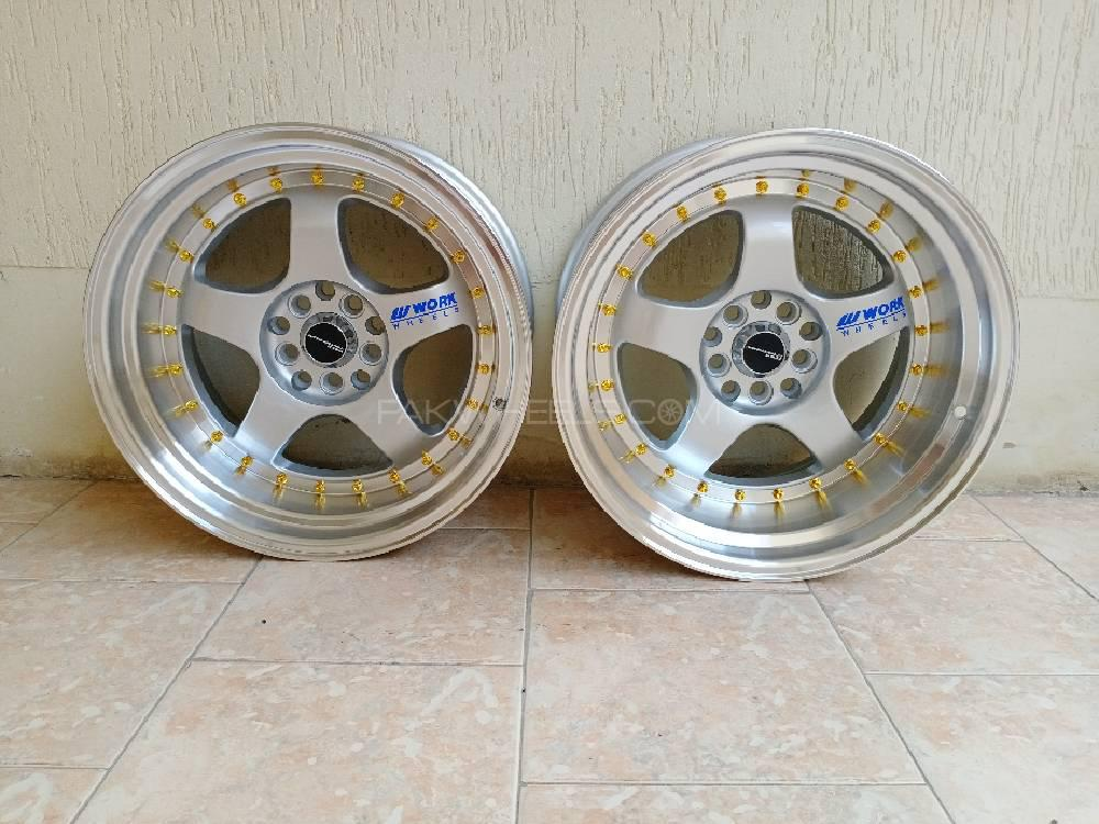 """Brand New Work Meister 17 """" Alloy Wheels Rims 5 Nut staggere Image-1"""
