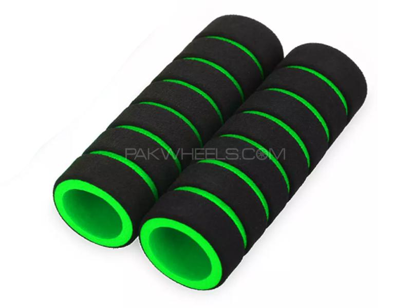 Universal Foam Cover For Handle Grip - Green Image-1
