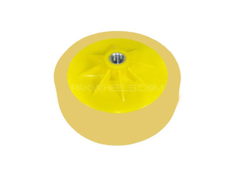 """Rotary Polisher Medium Cutting Pad with Fixed Plate 6"""" Image-1"""
