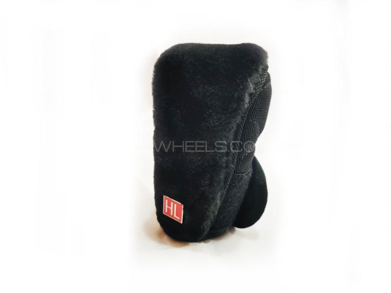 Car Manual Gear Knob Soft Velvet Cover Black in Lahore
