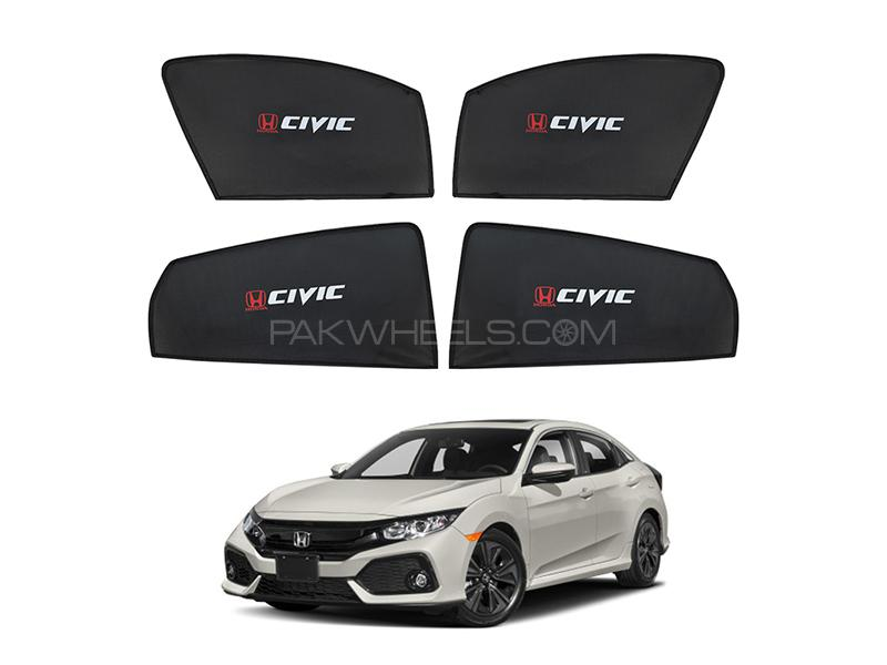 Honda Civic 2016-2020 High Quality Sun Shades With Logo  Image-1