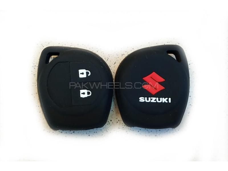 Suzuki Liana 2006-2014 Soft Silicone Key Cover Black Image-1
