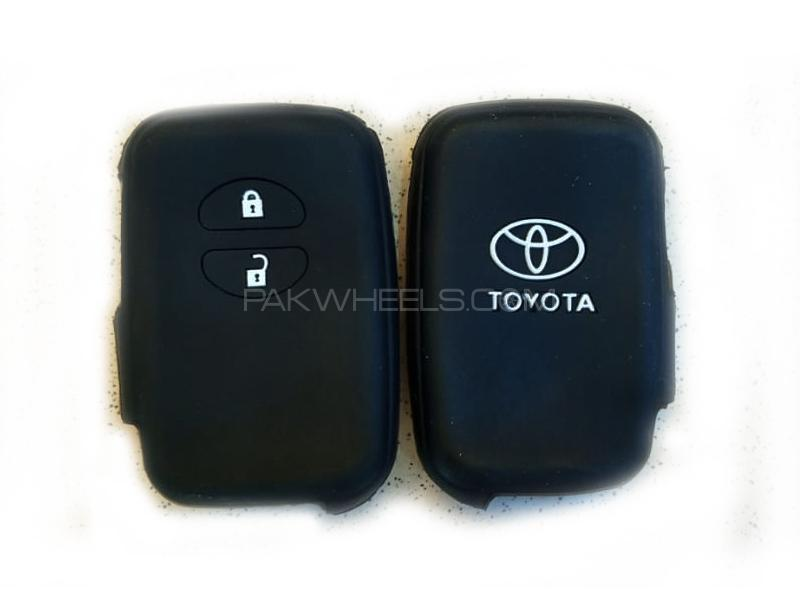 Toyota Prius 2009-2015 Push Start Soft Silicone Key Cover Black in Lahore