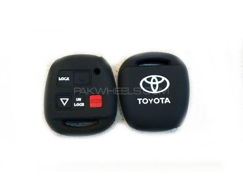 Toyota Camry 2006-2011 Soft Silicone Key Cover Black in Lahore