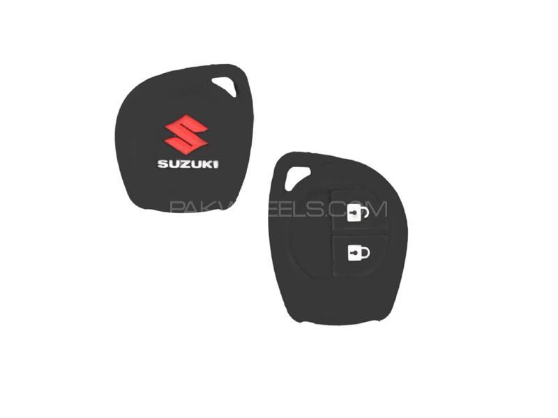 Suzuki Cultus 2017-2020 Soft Silicone Key Cover Black in Lahore