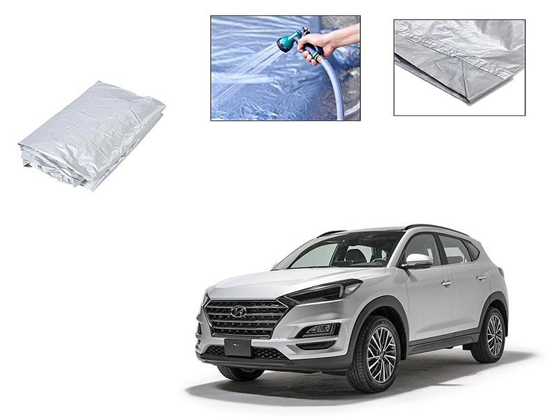 Hyundai Tucson 2020-2021 Silver Parachute Double Stitched Top Cover  in Karachi