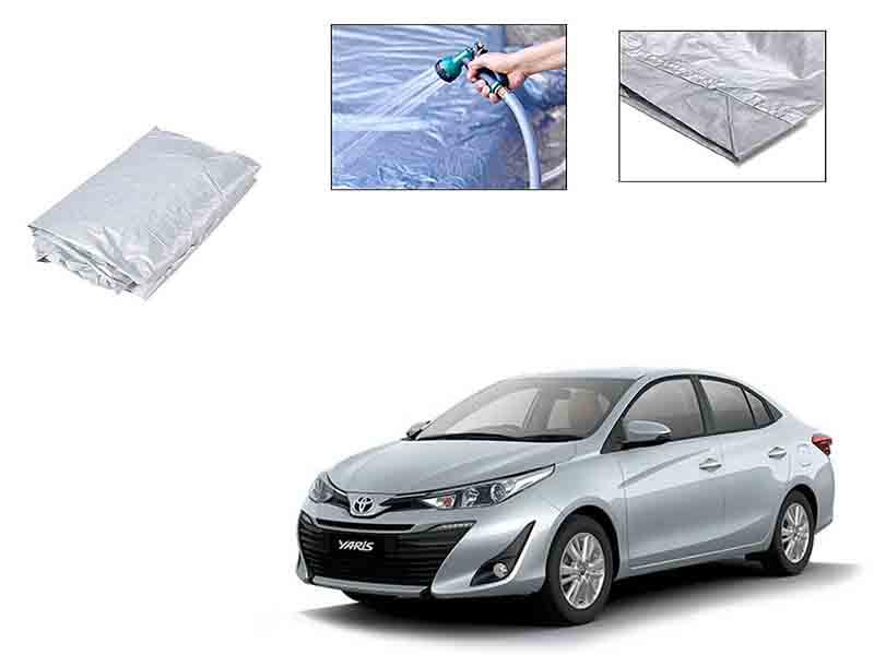 Toyota Yaris 2020-2021 Silver Parachute Double Stitched Top Cover  Image-1