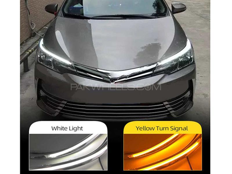 Toyota Corolla 2014-2017 Eyebrow DRL LED Audi Style Lights in Karachi