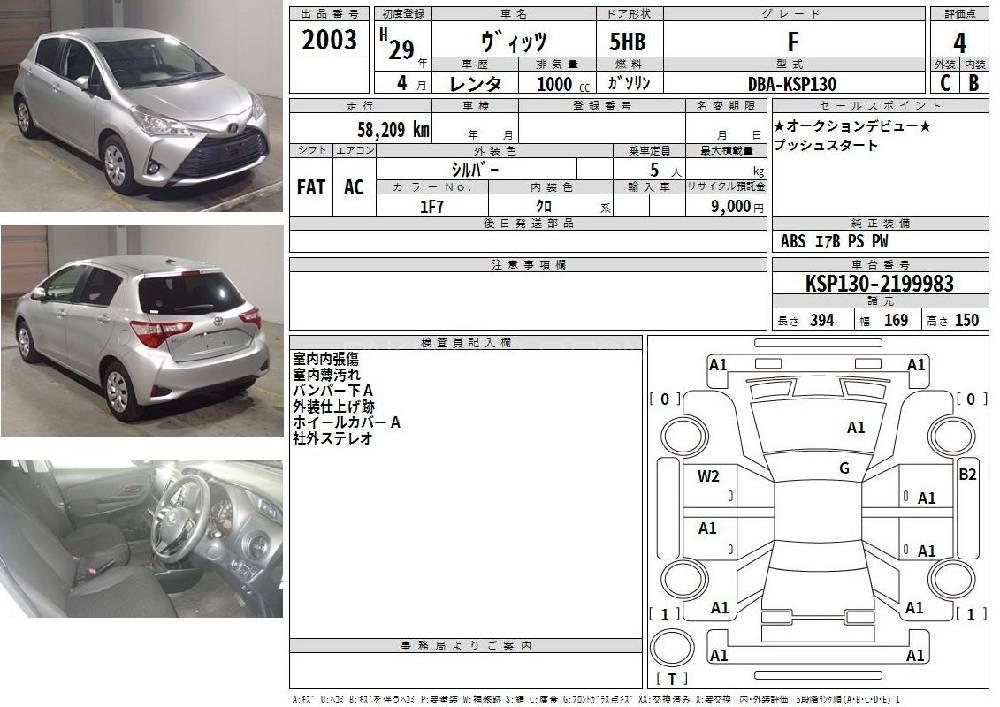 Toyota Vitz F Intelligent Package 1.0 2017 Image-1