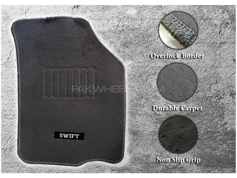 Suzuki Swift 2010-2021 Genuine Shape High Quality Carpet Mats - Grey in Karachi