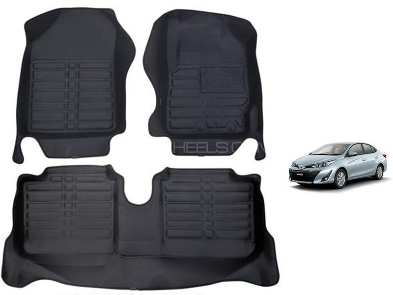 Toyota Yaris 2020-2021 5D Floor Mat - Black in Karachi