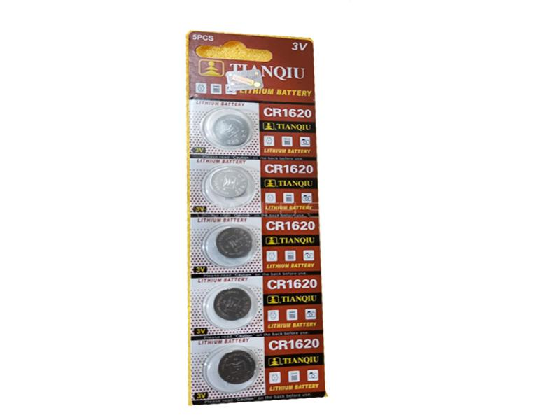 Car Remote Multi Use Cells Lithium Battery 3v 5pcs Pack CR1620 in Lahore