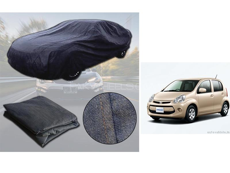 Toyota Passo 2010-2016 Denim Double Stitched Top Cover  Image-1