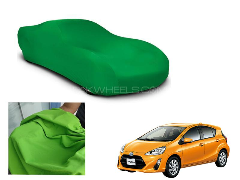 Toyota Aqua Microfiber Coated Anti Scratch And Anti Swirls Water Resistant Top Cover Image-1