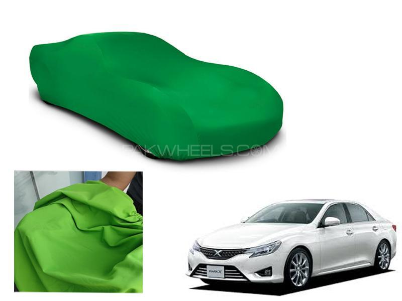 Toyota Mark X 2020 Microfiber Coated Anti Scratch And Anti Swirls Water Resistant Top Cover Image-1