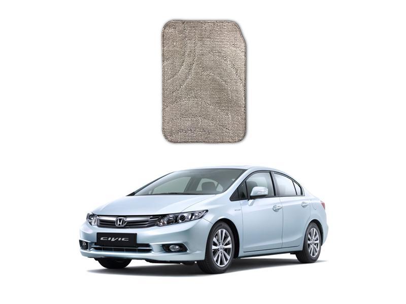 Honda Civic 2012-2016 Marflex Floor Mats Premium Beige Image-1