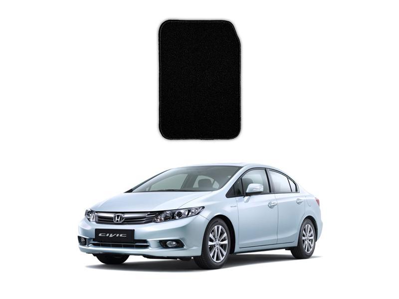 Honda Civic 2012-2016 Marflex Floor Mats Premium Black Image-1