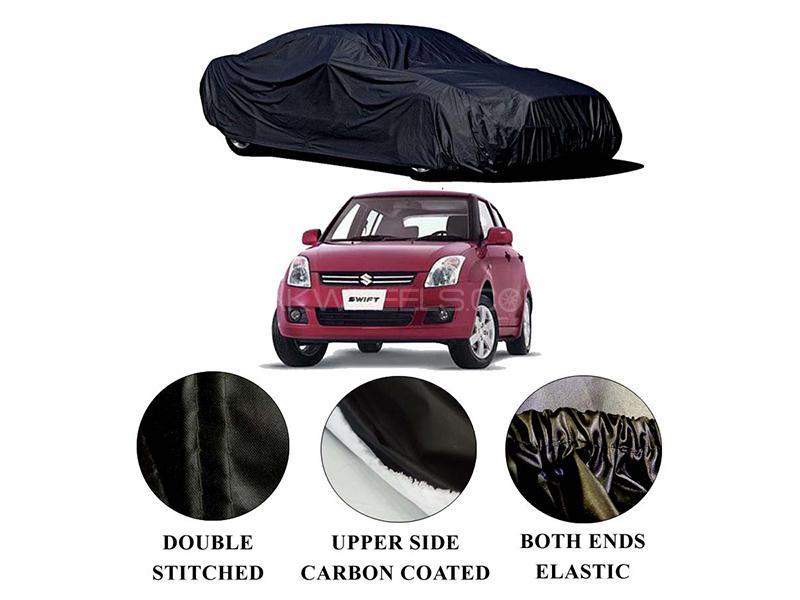 Suzuki Swift 2009-2021 Polymer Carbon Coated Car Top Cover in Karachi