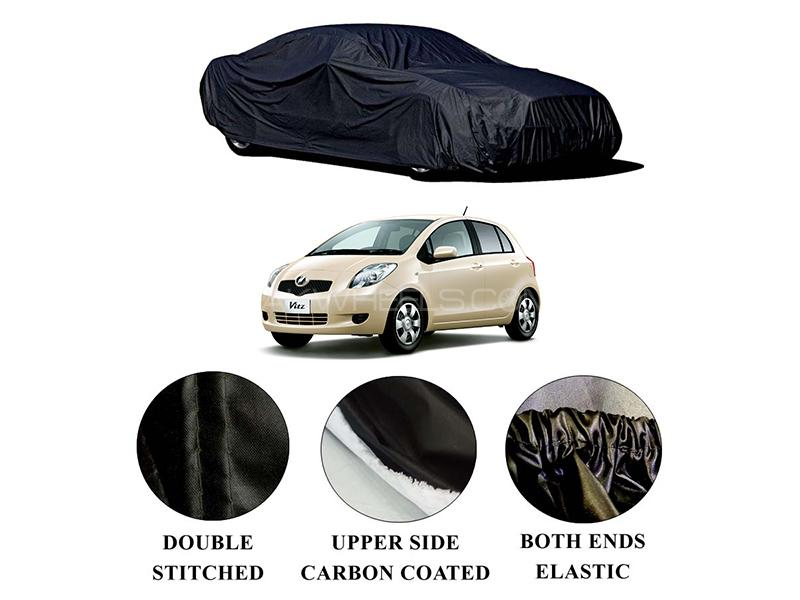 Toyota Vitz 2005-2010 Polymer Carbon Coated Car Top Cover in Karachi