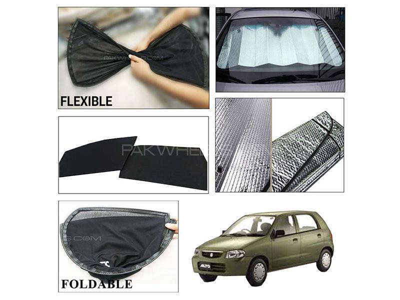 Suzuki Alto 2000-2012 Foldable Shades And Front Silver Shade - Bundle Pack  in Karachi