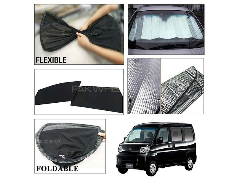 Daihatsu Hijet Foldable Shades And Front Silver Shade - Bundle Pack  in Karachi