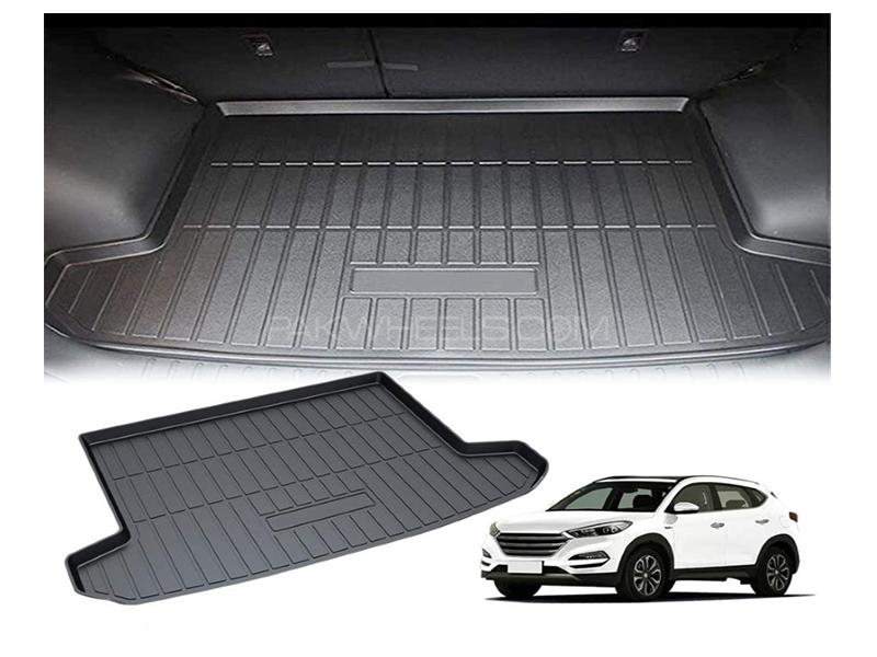 Hyundai Tucson 2020-2021 PVC Trunk Mat - Black  in Karachi