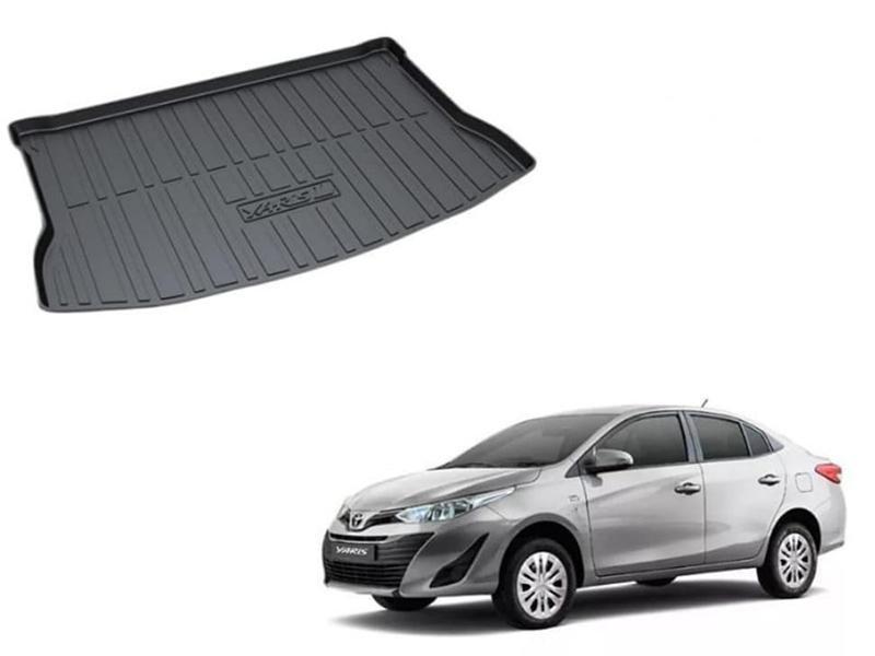 Toyota Yaris 2020-2021 PVC Trunk Mat - Black  in Karachi