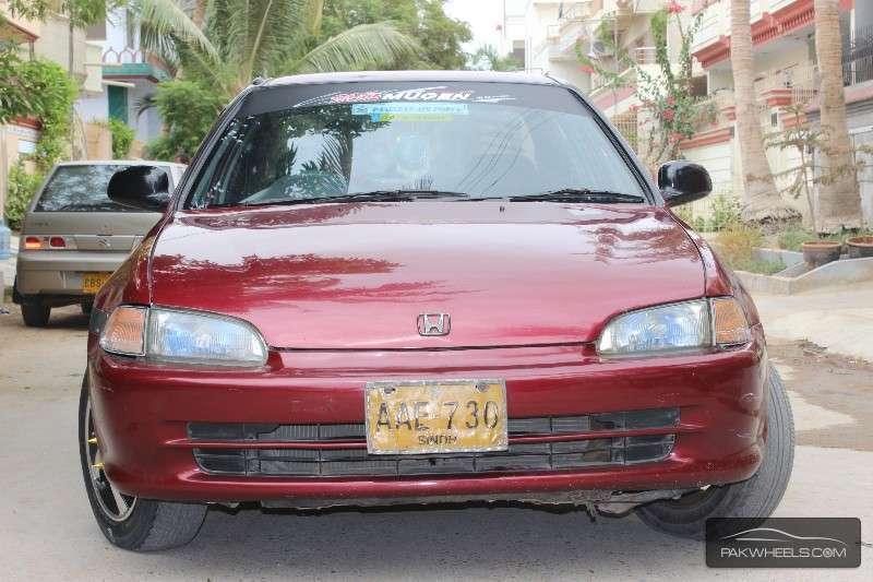 Honda Civic - 1995 red chick Image-1