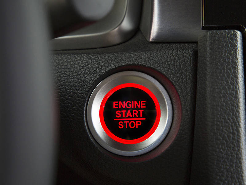 Honda Civic 2020 Interior Push Start Button